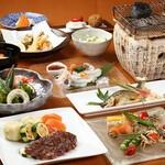 懐石・豆腐割烹雪花菜 - 米沢牛黒毛和牛和風ステーキ皿