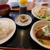 カグラデン - 料理写真:和風ハンバーグ定食ライス大(笑)