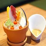 シンシア ブルー - バーニャカウダ 蟹味噌のソース