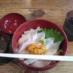 加瀬 - 料理写真:活あなご&ウニ丼