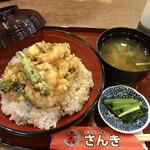 大えび天専門店 さんき - かき揚げ天丼