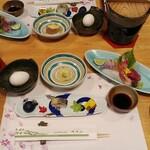 樹香苑 - 料理写真:夕食セッティング