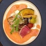 しゃんしゃん 龍 - ランチの一つメインのお魚料理