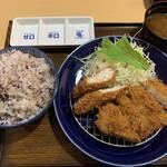 とんかつマ・メゾン - ささみかつ&ロースかつ定食(税別1380円)