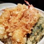 天ぷら つな八 - いかえび天丼。