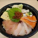 Sushizammaitakumi - ランチ店長おすすめ丼;木曜日は五色丼です