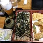 きそば 柏屋 - 天ざる(並)(1250円)