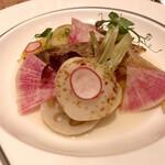 ザ・ロビー - 本日の鮮魚のソテー、季節の野菜のポトフ仕立て ゆず風味