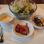 アチェーロ - 料理写真:本日の前菜3種とサラダの盛り合わせ
