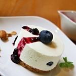 ふたばカフェ - レアチーズケーキ