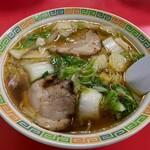 名物王寺ラーメン - 王寺ラーメン麺1.5倍