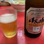 名物王寺ラーメン - ビール(びん)