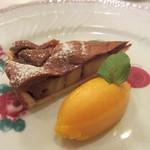エスプリメ - バナナとチョコレートのタルト マンゴーアイス添え