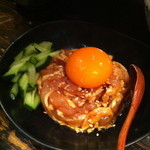 串工房・浪漫亭 - 朝挽き鶏ササミのユッケ (520円)