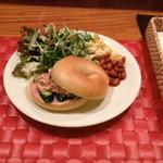 ユニ カフェ - お野菜たっぷりベーグルプレート