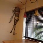 ユニ カフェ - 金子國義画伯の壁画