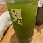 寿司と炭火 一 - 冷たい緑茶