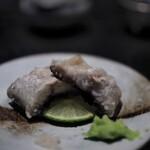 麻布十番松栄寿司 - うなぎの白焼き