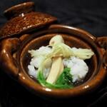麻布十番松栄寿司 - 鱧の土瓶蒸し