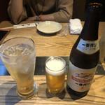 金澤旬料理 八兆屋 駅の蔵 - 加賀梅酒ソーダ割りと瓶ビール中