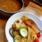Ginzaoboroduki - 夏野菜スパイシーカレーつけ麺