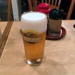 Shinkawataishoukenhanten - お疲れ様セット980円のビール