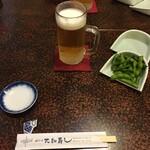 大和寿司 - 先ずはビール