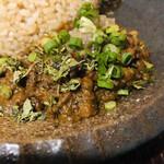 kyuuyamutei - 豆乳仕立ての南瓜とヒヨコ豆の和風ポークキーマ