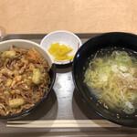北のたまゆら - 料理写真:海鮮かき揚げ丼セット(塩ラーメン)