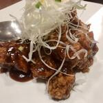 華宴 - 黒酢の肉だけ酢豚(税別1230円)