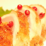 焼鳥和房 えん福 - 宮崎地鶏のタタキです。とってもジューシー