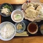 一源 - イカと舞茸・ハス天定(¥880)