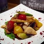 The四季處 飛来 - 帆立と彩り野菜のソテー -オイスターソース-