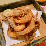 釜飯と和食 旬 - 芝海老の唐揚げ