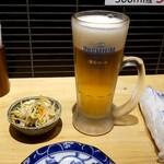あぶり清水 - 生ビール:280円+税