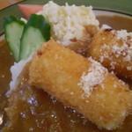 カレー&コーヒーかわしま - カニコロのようなチーズフライ