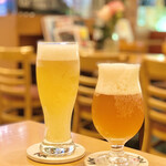 Cafe Lychee - 常時2種類のクラフトビールが用意されているそうです
