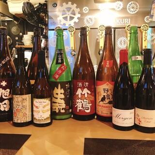各地から厳選した【日本酒】【ナチュラルワイン】を日替わりで!