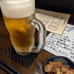 うまいものや たろう - 仕事終わりにゃまず生ビール。