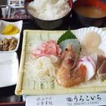 うろこいち - 刺身定食1600円