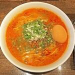十人十色 - 料理写真:「豚清湯担々麺」¥900+「味玉」¥100