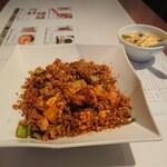 137150439 - 鶏肉と旬野菜のピリ辛スパイシーチャーハン+150円(税別) 202009