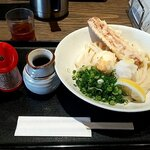 麺匠 空海 - 料理写真:ちく玉天ぶっかけうどん(冷)うどん大盛 税込790円+100円