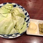 静岡酒場ガッツ - わさび味噌キャベツ