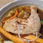 スープカレー&カフェ クラボン - チキンのアップ