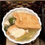 下桂茶屋 月波 - おあげさんと小松菜の炊いたん