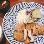 137170213 - ロースかつ定食(1100円)