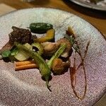 畑のキッチン orto - 料理写真:赤牛とチキン