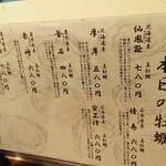 Kakitoshampankakibero - 本日の牡蛎メニュー