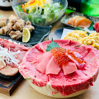 マグロ婆娑羅特製【海鮮肉飯】プラン2時間飲み放題付3300円